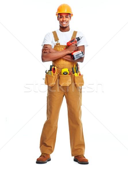 African American worker man. Stock photo © Kurhan