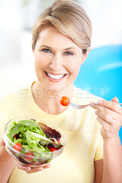 Photo stock: Légumes · fruits · maturité · femme · souriante · femme · alimentaire