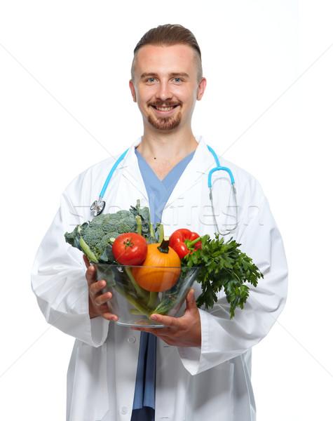 Médico legumes médico nutricionista homem Foto stock © Kurhan