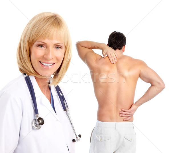 Młody człowiek lekarza pacjenta człowiek odizolowany Zdjęcia stock © Kurhan