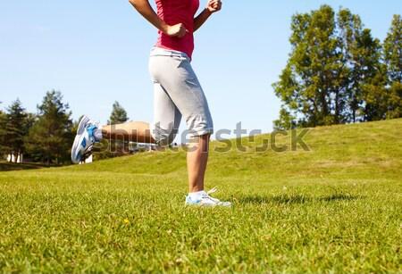 Jogging woman feet. Stock photo © Kurhan