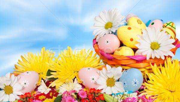 Paaseieren mooie voorjaar Pasen partij natuur Stockfoto © Kurhan