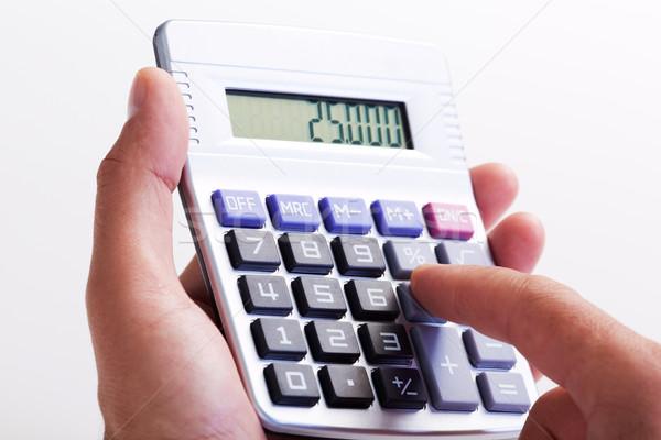 手 電卓 金融 会計 ビジネス 成功 ストックフォト © Kurhan