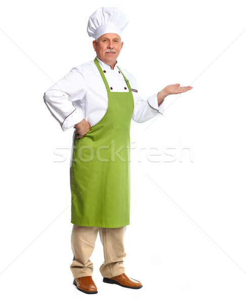 Chef inviting in restaurant. Stock photo © Kurhan
