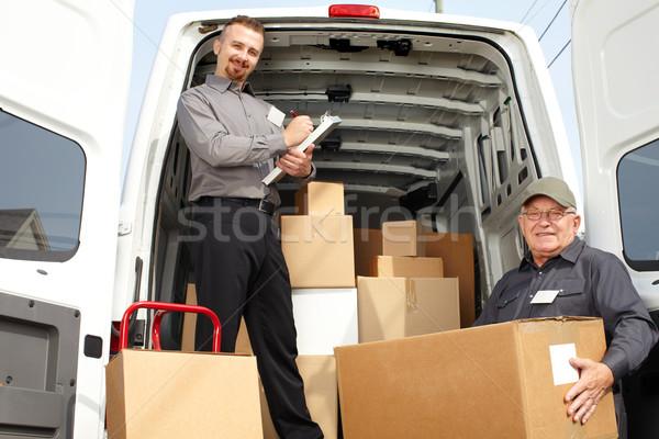 グループ 配信 男性 送料 トラック ストックフォト © Kurhan