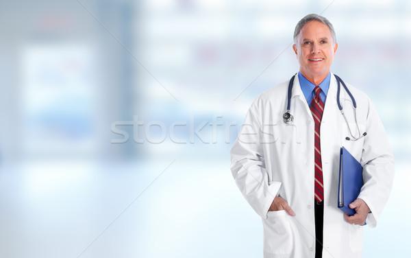 Elderly hospital doctor man. Stock photo © Kurhan