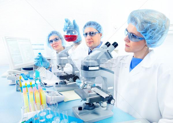 Stock fotó: Laboratórium · tudomány · csapat · dolgozik · nő · férfi
