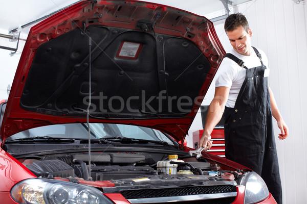 Photo stock: Mécanicien · automobile · élégant · mécanicien · travail · Auto · réparation