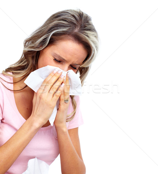 Woman having cold. Stock photo © Kurhan