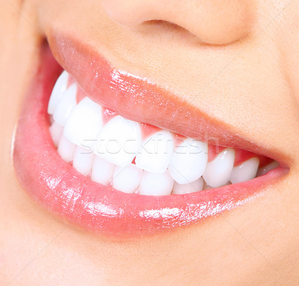 Teeth whitening. Woman smile. Stock photo © Kurhan