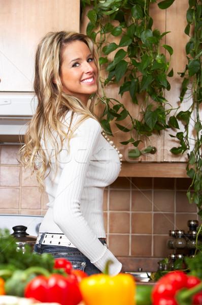 woman  in the kitchen Stock photo © Kurhan