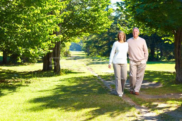 elderly seniors couple Stock photo © Kurhan