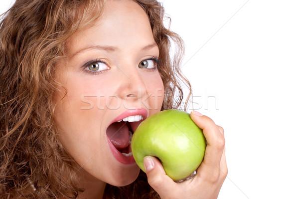woman with apple Stock photo © Kurhan