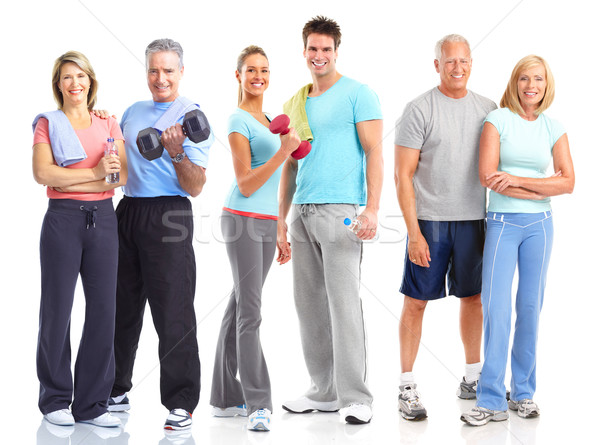 Gym, Fitness, healthy lifestyle Stock photo © Kurhan