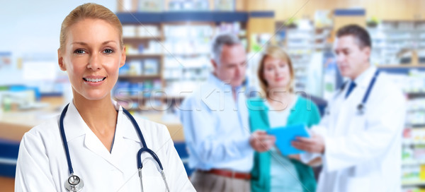 Pharmacist Doctor woman. Stock photo © Kurhan