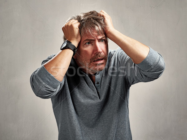Anxious worried man Stock photo © Kurhan