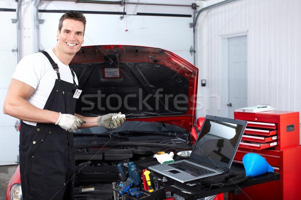 Auto ремонта красивый механиком рабочих магазин Сток-фото © Kurhan