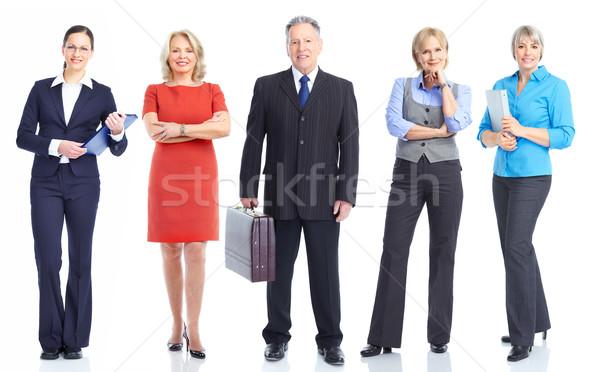 üzleti csapat nagyobb csoport mosolyog üzletemberek csapatmunka üzlet Stock fotó © Kurhan