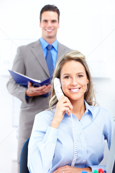 Equipe de negócios jovem sorridente pessoas de negócios moderno escritório Foto stock © Kurhan