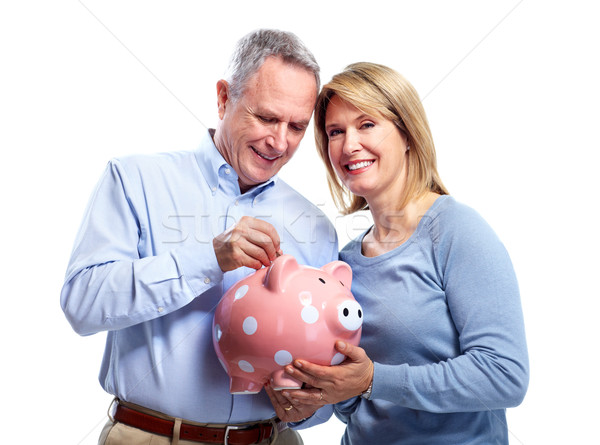 Couple with piggy bank. Stock photo © Kurhan