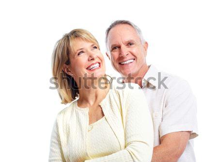 Happy elderly couple. Stock photo © Kurhan
