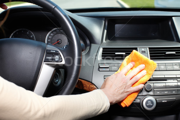 Hand cleaning car. Stock photo © Kurhan