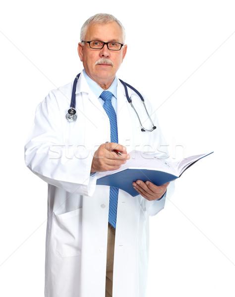 Orvos orvos áll izolált fehér férfi Stock fotó © Kurhan