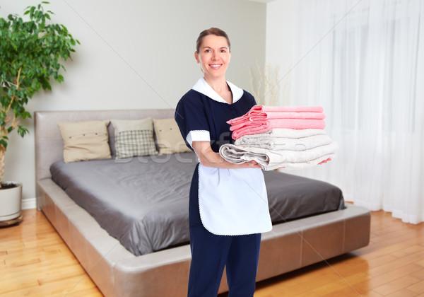 горничная женщину дома очистки службе Сток-фото © Kurhan