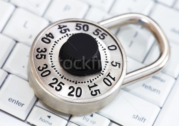 Trancar teclado fechamento de combinação proteção segurança computador Foto stock © Kurhan