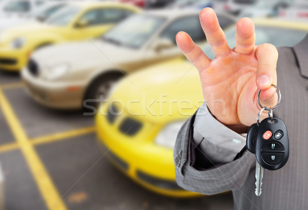 дилер стороны ключи от машины Автосалон ключевые Auto Сток-фото © Kurhan