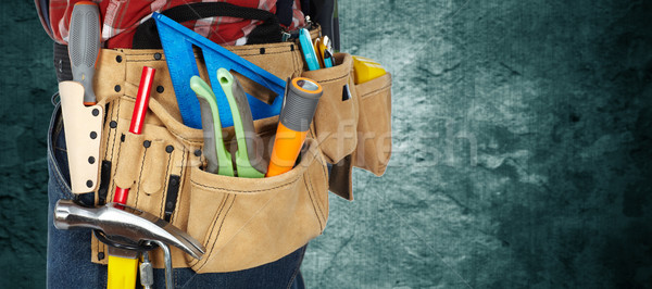 Tool belt with construction tools. Stock photo © Kurhan