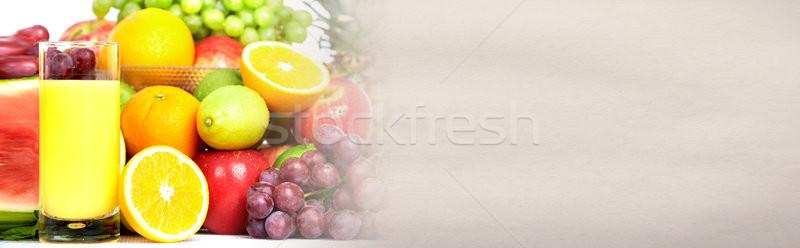 Stok fotoğraf: Portakal · suyu · meyve · cam · taze · tablo · sağlıklı · gıda