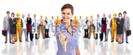 Stock photo: Group of industrial workers.