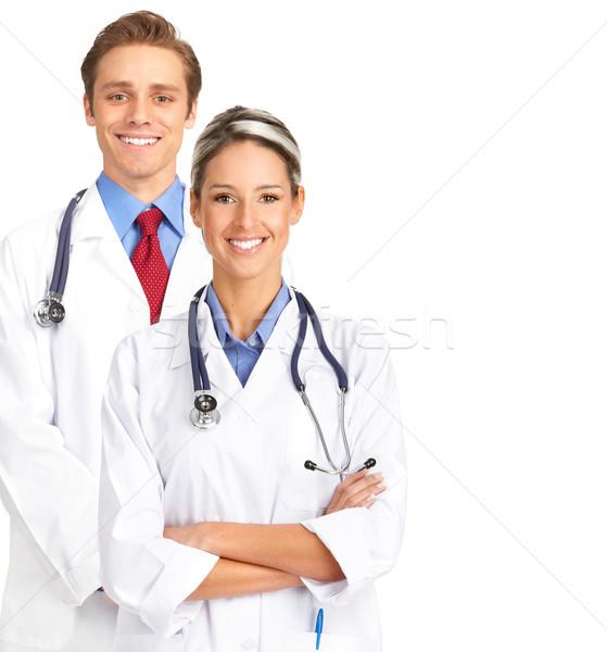 Médicos personas sonriendo aislado blanco salud Foto stock © Kurhan