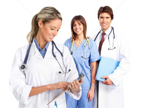 Souriant médicaux médecins personnes blanche Photo stock © Kurhan