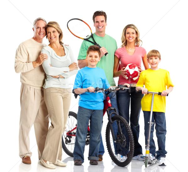 Happy sportive family Stock photo © Kurhan