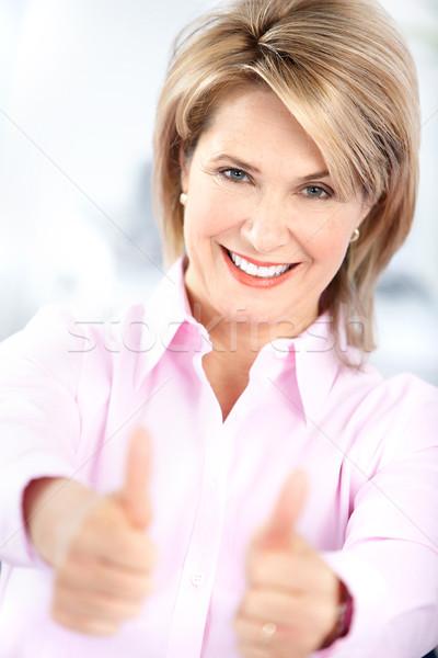 ストックフォト: 幸せ · 女性 · 成熟した女性 · 笑顔 · 健康