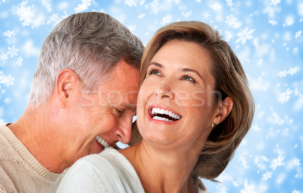 Happy senior couple close-up. Stock photo © Kurhan