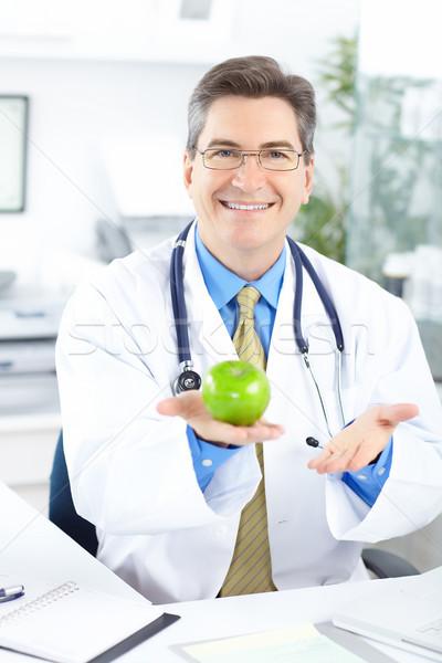 Foto stock: Médico · médico · trabalhando · escritório · negócio · feliz