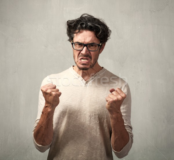 Angry man. Stock photo © Kurhan