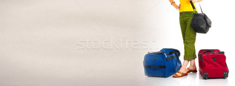 Tourist with baggage Stock photo © Kurhan