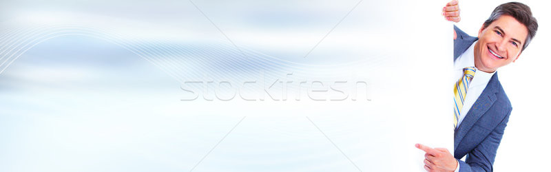 man presenting space for message Stock photo © Kurhan