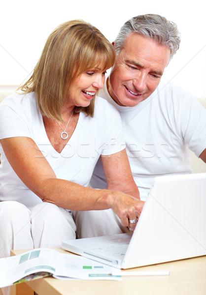Couple with laptop. Stock photo © Kurhan