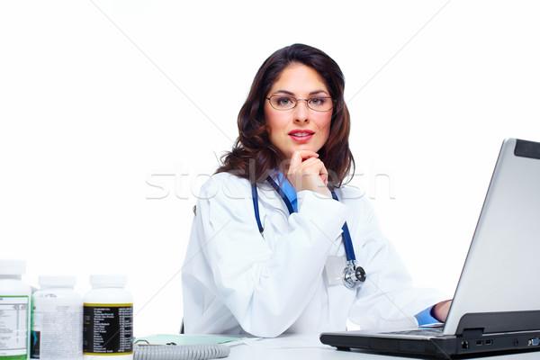Medical doctor woman. Stock photo © Kurhan