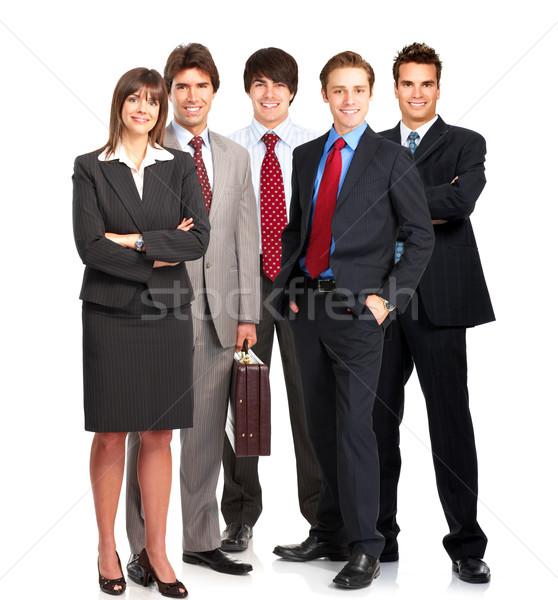 Geschäftsleute Gruppe jungen lächelnd weiß Büro Stock foto © Kurhan