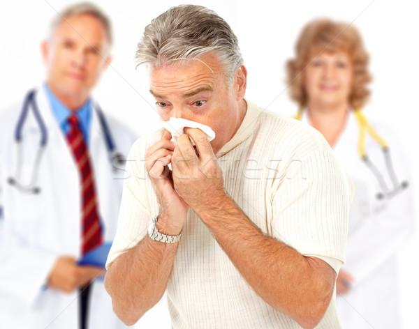 Influenza medici uomo isolato bianco faccia Foto d'archivio © Kurhan