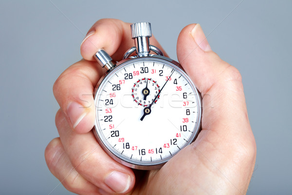 Mecânico cronômetro cinza mãos ver branco Foto stock © Kurhan