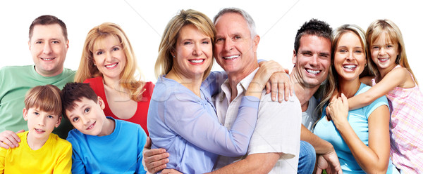 Happy smiling family portrait. Stock photo © Kurhan