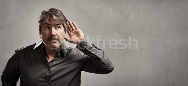 listening man. Stock photo © Kurhan