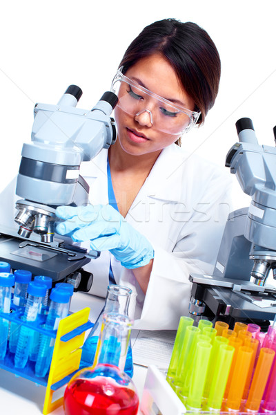 Stok fotoğraf: Bilimsel · kadın · çalışma · laboratuvar · Asya · tıbbi